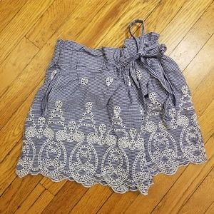 Zara lace detailed skort
